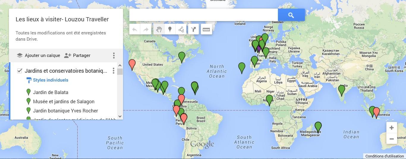 La carte interactive des lieux à visiter en lien avec les plantes médicinales dans le monde entier