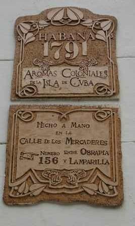 Habana 1791, Aromas Coloniales de la Isla de Cuba