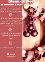 fêtes de fin d'année : Menu de Noel