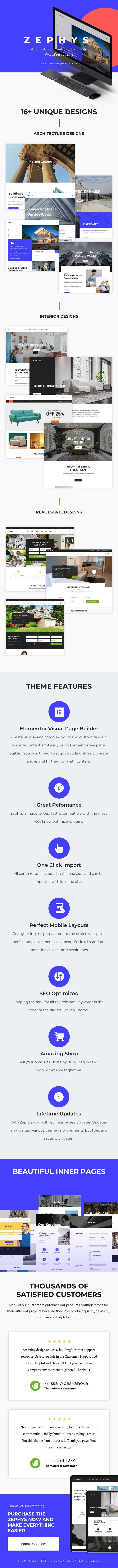 Zephys - Architecture & Interior WordPress Theme - 1
