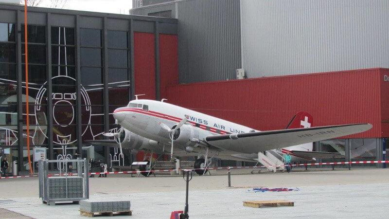 Avion de Swissair à Lucerne au musée des transports