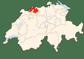 Carte de Bâle-Campagne