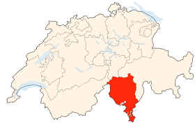 Carte du Tessin