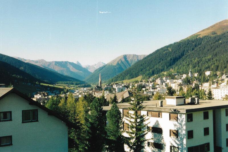 Vue de la ville de Davos