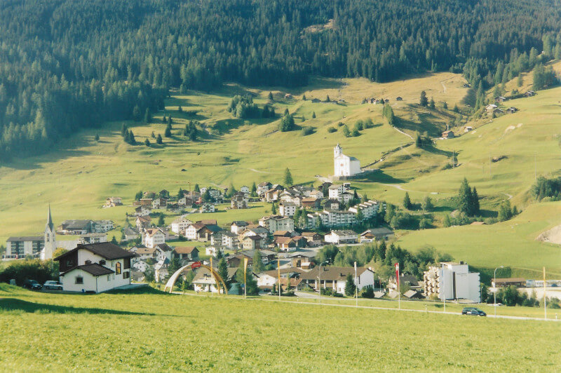 Panorama du village de Savognin