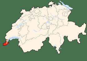 Carte du canton de Genève