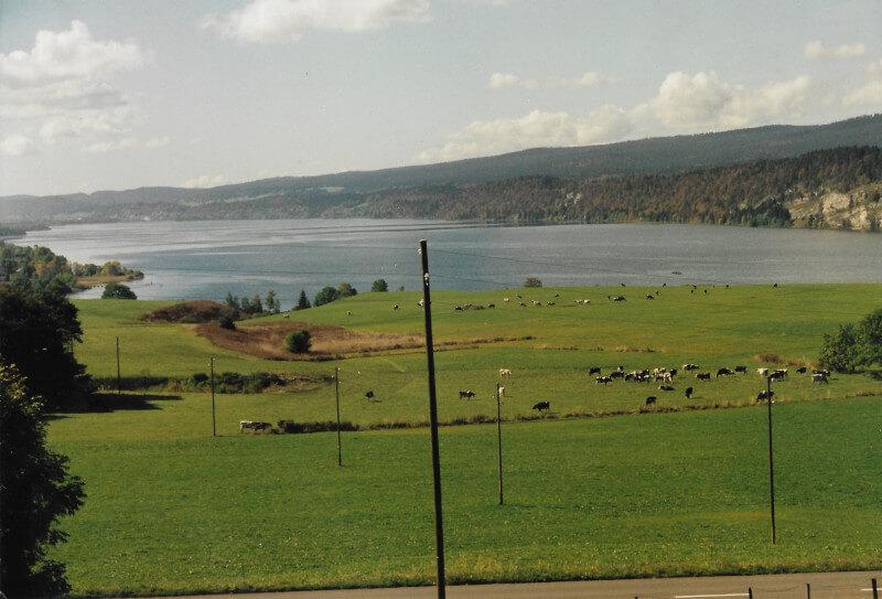Le lac de Joux vue depuis notre résidence secondaire