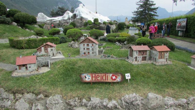 Le village d'Heidi en miniature