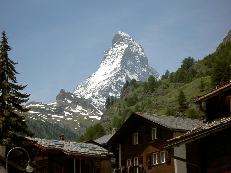 Le Cervin vue depuis Zermatt