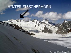 36ème sommet le plus élevé de Suisse - L'Hinter Fiescherhorn