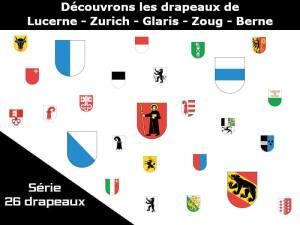 Étudions les banderoles de cinq cantons suisses