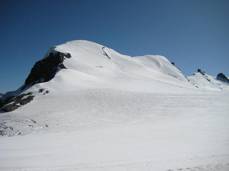 Arrivée au sommet du Breithorn