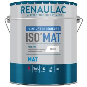 Iso Mat une Peinture mate isolante et garnissant à base de résine glycérophtalique et d'huile traitée chimiquement, idéale en rénovation.