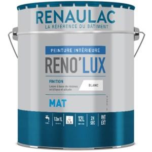 Reno'lux mat peinture laque acrylique mate tendue haute résistance. Bonne facilité de nettoyage des salissures et des taches alimentaires
