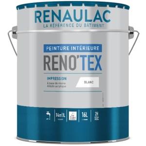 Reno'tex impression est une peinture opacifiante à base de résines alkydes et acryliques. Travaux de finition A.