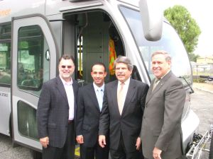 From left, Richard Katz; Mitch Englander, Chief of Staff to Councilman Greig Smith; Supervisor Zev Yaroslavsky, and Councilman Greig Smith.  Photo:##http://www.mydailyfind.com/tag/greig-smith##My Daily Find.##