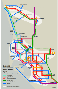 Transit, as it would exist in San Diego under SANDAG's hybrid option.  For links to maps for all the potential plans,##http://www.sandag.org/index.asp?projectid=368&fuseaction=projects.detail##click here.##