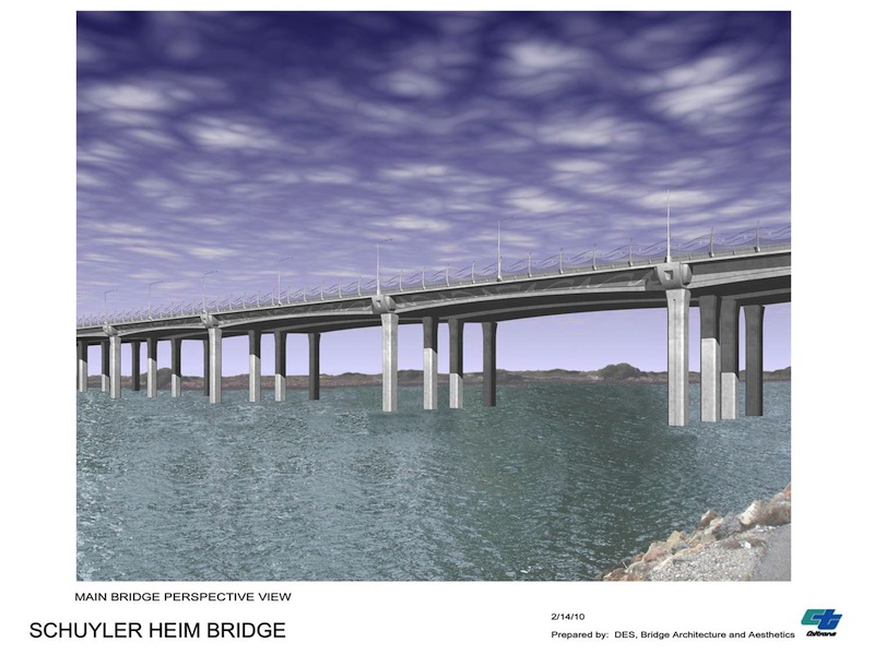 The proposed Heim Bridge replacement. Rendering courtesy of Cal Trans.