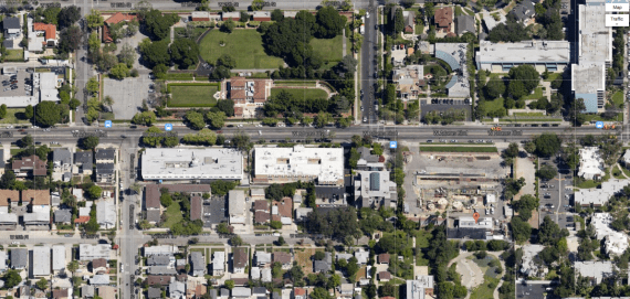 The Murphy Drill Site (bottom, right), located at 2126 Adams Blvd could play host to 3 new wells, should Freeport-McMoRan get their way. (Google Screen Shot)