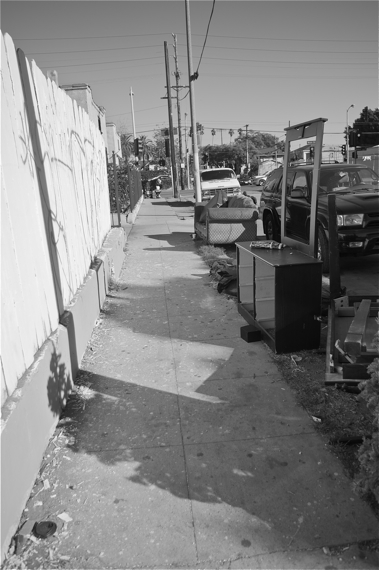 More dumped furniture lines 41st Pl., one block south of the vacant lot. Sahra Sulaiman