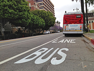 The Wilshire Bus Only Lane, image via L.A. County.