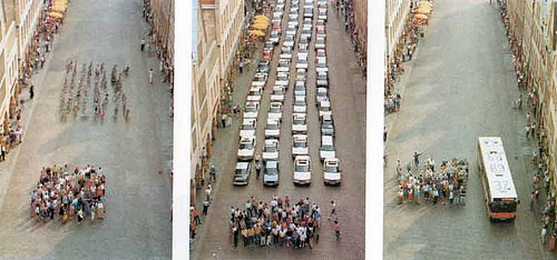 This famous demonstration of how much space is taken to move people via different modes has an important lesson for those thinking LOS is the best measure of transportation impacts.