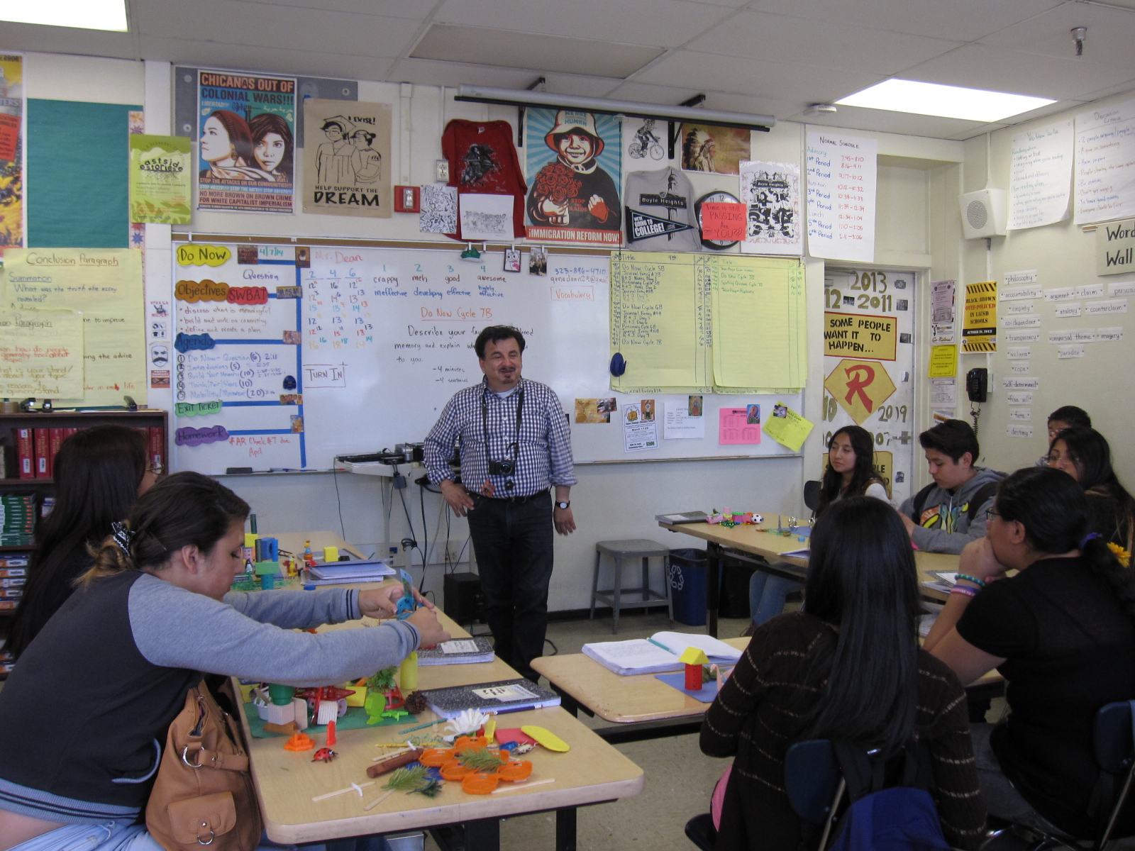 Urban planner James Rojas leads students through his PLACE IT! workshop Photo by Erick Huerta