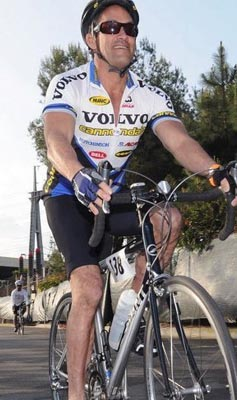 John Duran uses exercise and involvement to combate HIV. Here he's pictured taking part in Lifecycle. Photo:##http://www.wehonews.com/z/wehonews/using-recovery-as-a-guiding-star-john-duran-reaches-for-county-supervisor/##WehoNews##