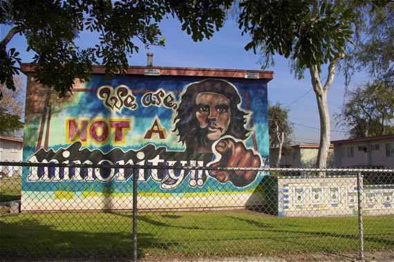 One of the many historic murals at Estrada Courts on Olympic Blvd. Sahra Sulaiman/Streetsblog L.A.
