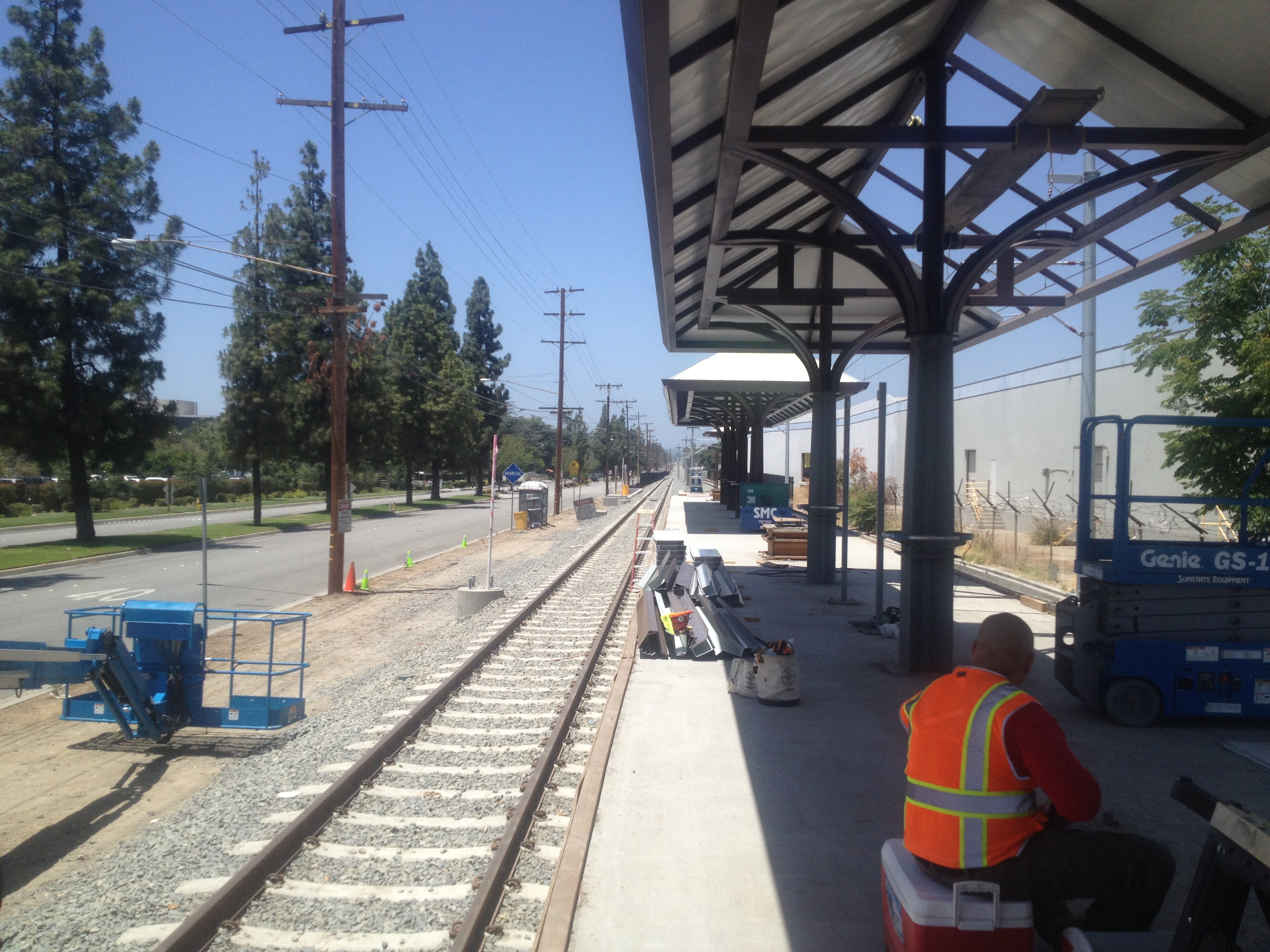 a photo essay of a tour of the gold line foothill extension 2323
