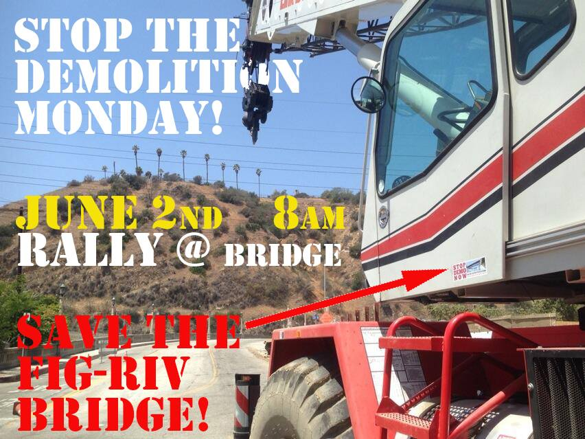 Tomorrow is a crucial decision point for the Riverside-Figueroa Bridge. LandBRIDGE proponents rally at the bridge at 8am.