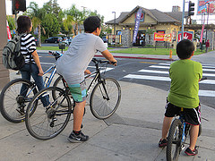 Bicyclists on North Figueroa Street. Photo via Fig4All Flickr