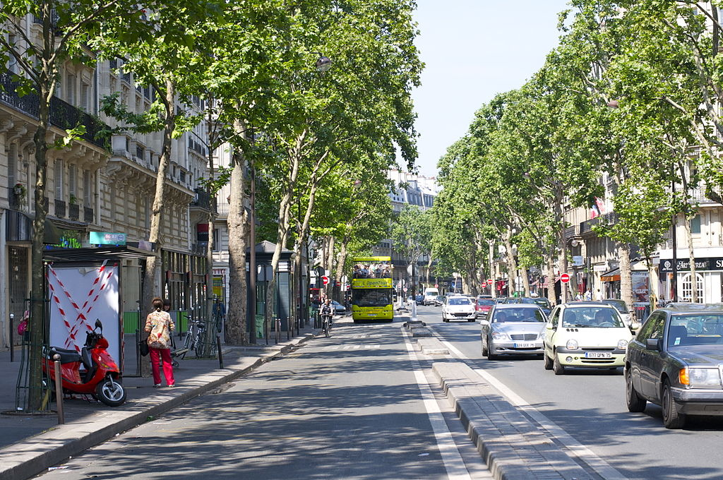 Paris, not Los Angeles, but maybe one day, in a decade. Boulevard Saint-Germain by Aleksandr Zykov, Russia.
