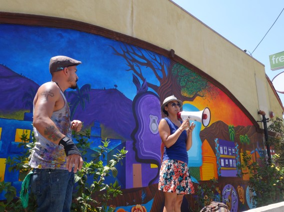 Artist Kristy Sandoval and Rah Azul describe the importance of being connected to community when painting murals
