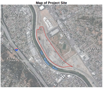 Map of Taylor Yard parcel G2.