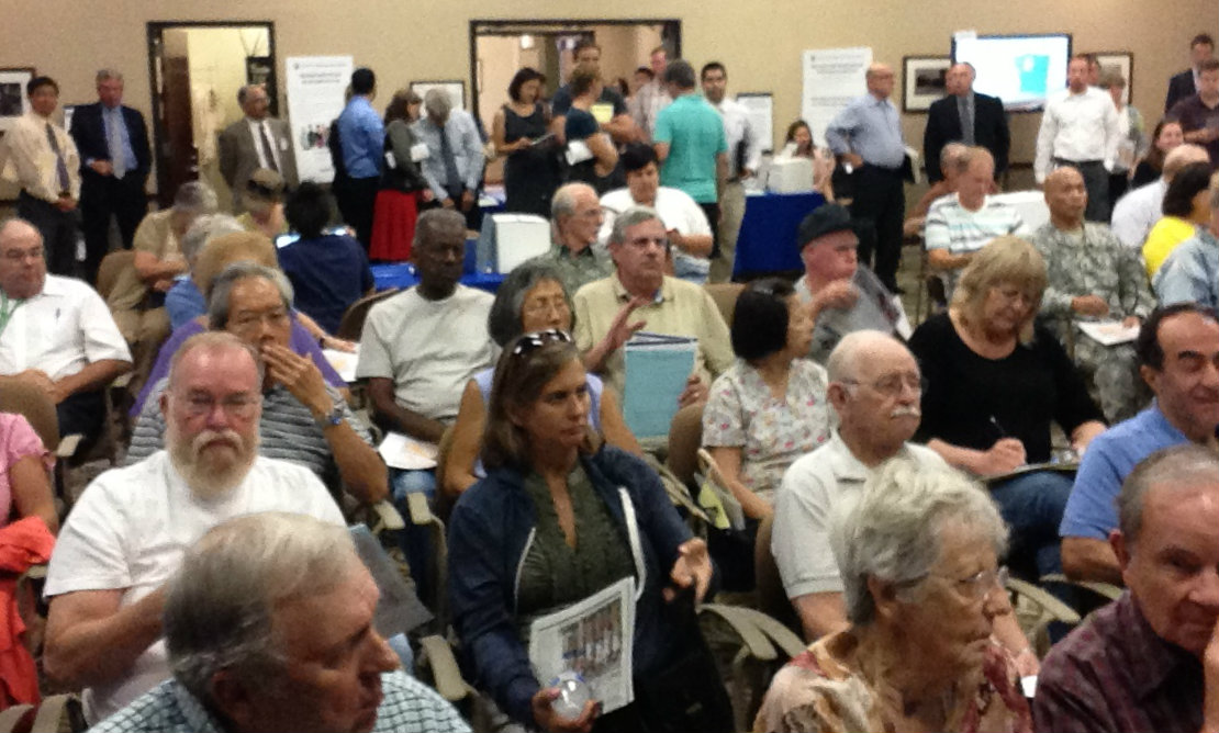 The audience at yesterday's High Speed Rail scoping meeting in Burbank. Meetings continue this week though August 19. Photo: Joe Linton/Streetsblog L.A.