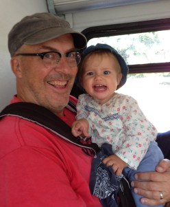 The author riding the bus with my daughter Maeve. Photo: Carrie Lincourt/Streetsblog L.A.