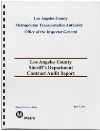 To read the report, click ##http://www.scribd.com/doc/238287478/Los-Angeles-County-Sheriff-s-Department-Contract-Audit-Report-May-2014##here.##
