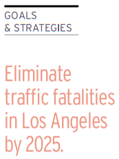 From LADOT's plan: eliminate traffic fatalities by 2025