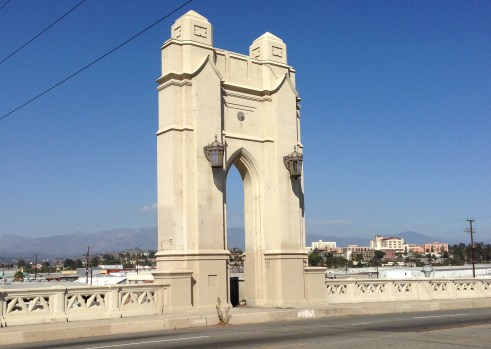 Portico on the 1931 Fourth Street Bridge over the L.A. River
