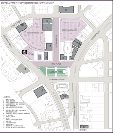 The layout of Leimert Park Village. Source: LeimertParkVillage.org