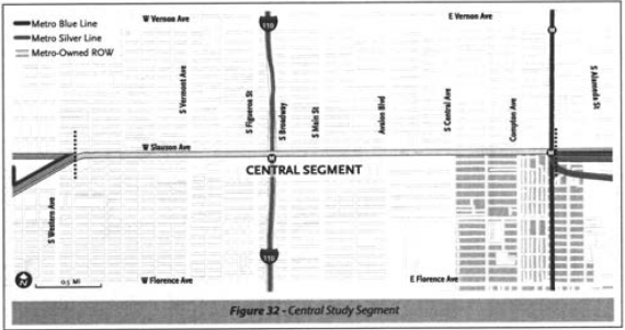 The path of the Central Segment of the ATC along Slauson Ave.