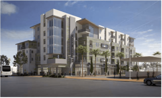 Affordable housing at the Soto station. Source: Metro.