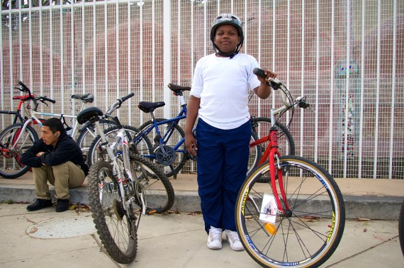 I met this young man on my first CicLAvia South L.A. exploratory ride. He's practically all grown up now and still riding. Sahra Sulaiman/Streetsblog L.A.