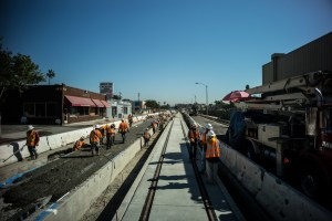 Among the largest receipients is Los Angeles' Metro Expo Rail Phase 2. Photo via Metro's The Source.