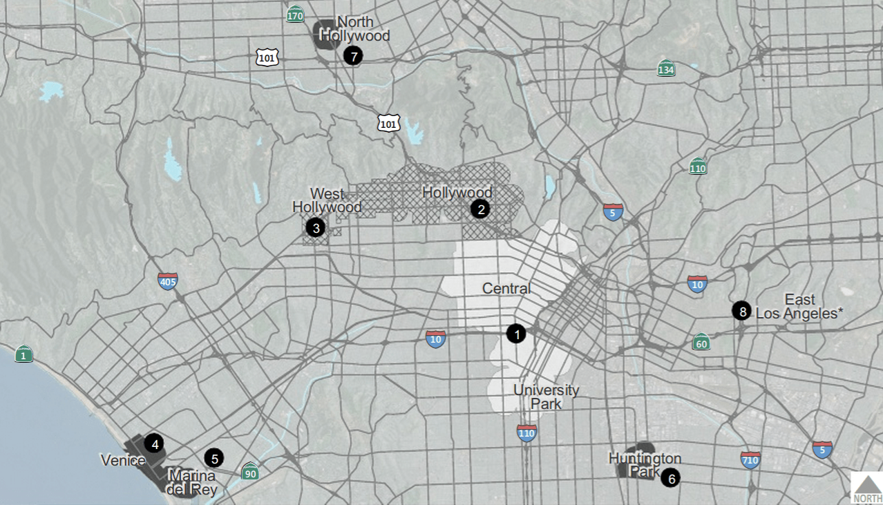 Metro Regional Bike Share Expected To Open In Downtown LA In - Los angeles metro expansion map