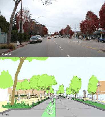 This Complete Streets plan in Albany, CA, won a grant from the Active Transportation Program in 2014. Image: Wallace Robers & Todd, via City of Albany