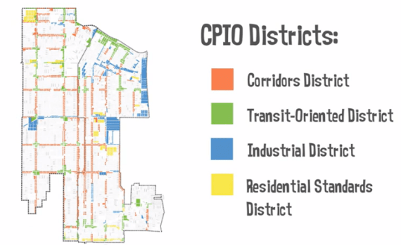 The districts, as laid out by the CPIO in South East L.A.