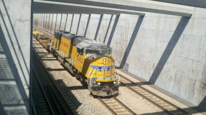 Alameda Corridor freight rail. Photo by Roger Ruddick