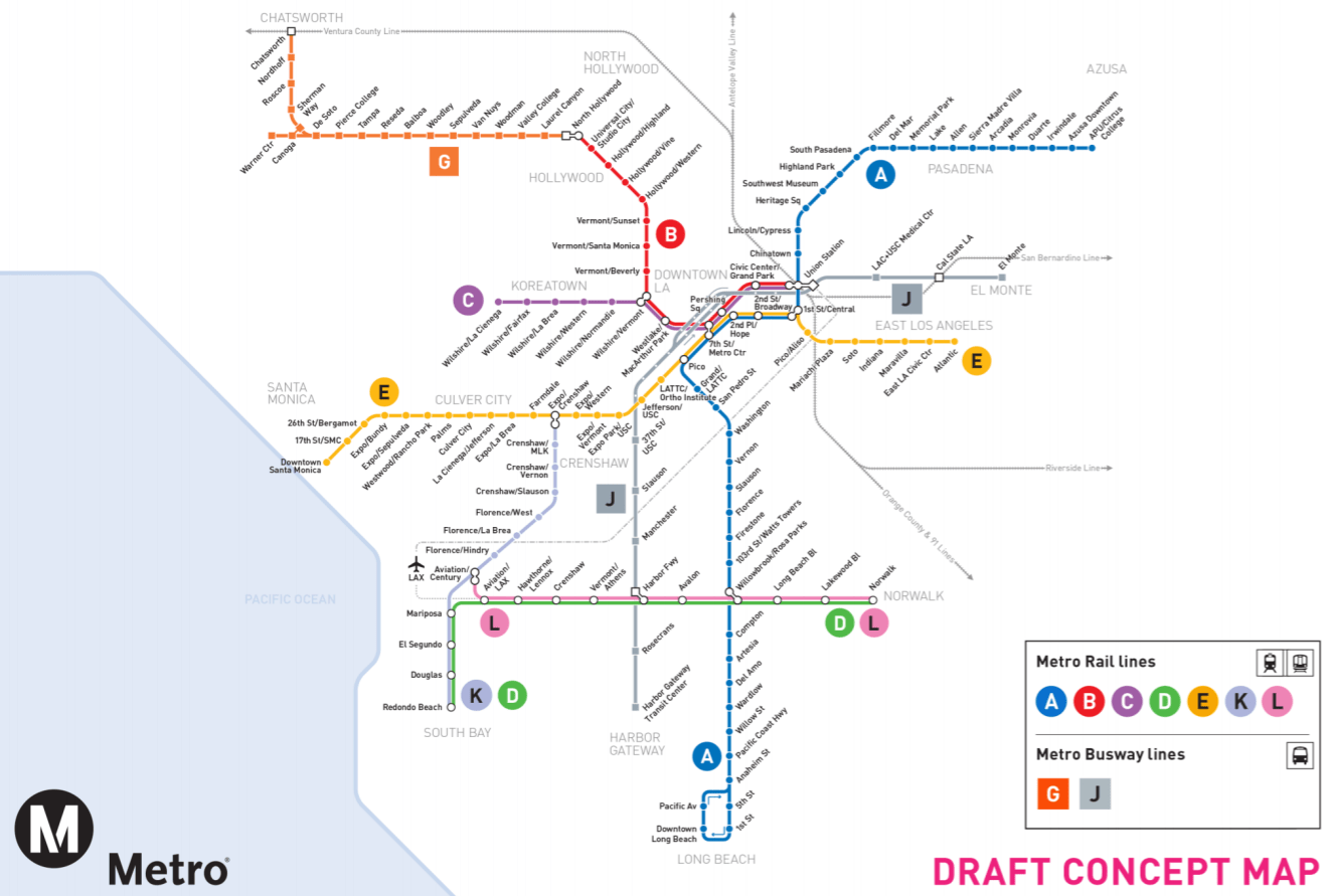 Metro Proposes New Letter Designations For Rail And Brt Lines